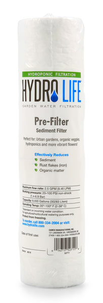 Hydro Life Hydroponics - Sediment / Pre-Filter Replacement Cartridge