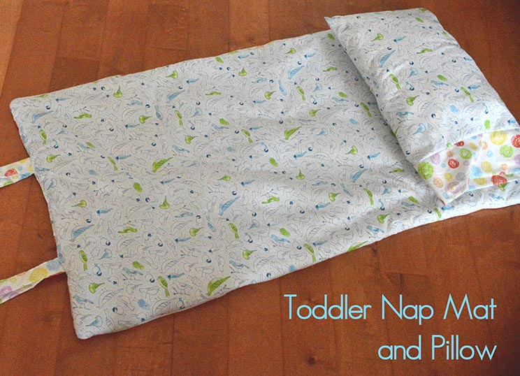 Toddler Nap Mat and Pillow