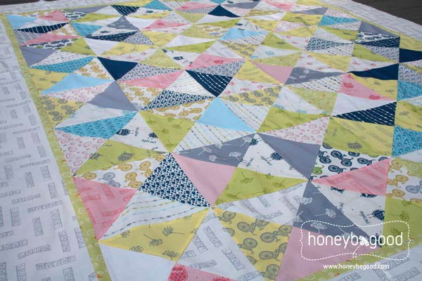 Hour Glass Quilt Kit - Little Things Organic Cotton Fabric | HoneyBeGood