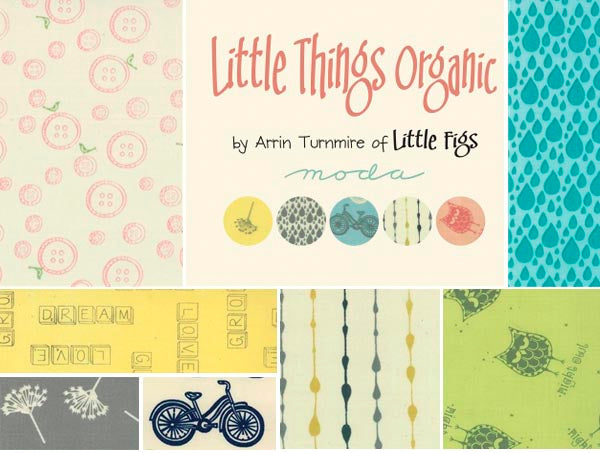 LIttle Things Organic Cotton Quilting Fabric by Arrin Turnmire for Moda Fabrics | HoneyBeGood