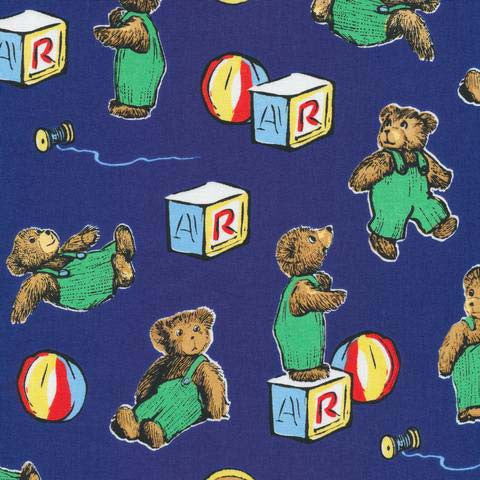 Corduroy - Bear with Block | Navy