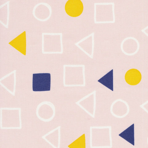 Printed Shapes CANVAS -  Geometry Pink