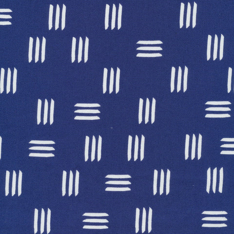 Printed Shapes CANVAS -  Dashes Blue