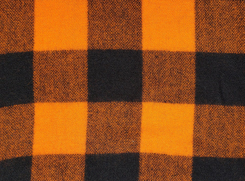 "Wool | 48""  Orange/Black Check"
