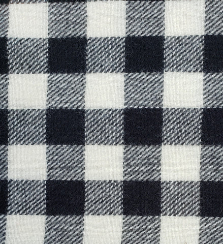 "Wool | 60""  Black/White Check"
