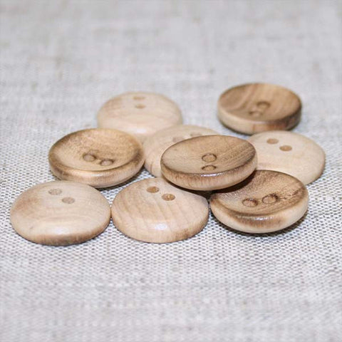 Cup Button | Burntwood 3/4""