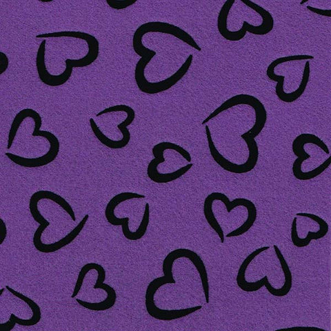 Eco-fi Fancy Felt - Violet Sky Princess Heart | HoneyBeGood