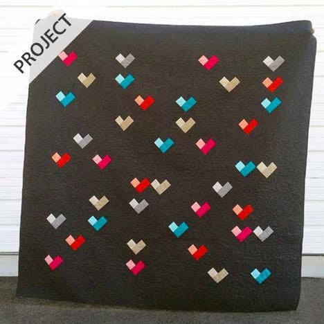 Digital Hearts Quilt - Free Pattern