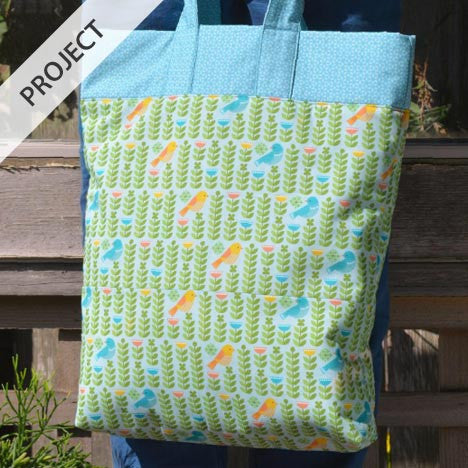 Forest Parade Fat Quarter Tote - Free Tutorial