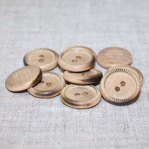 Knurl Rim Button (492) Burntwood