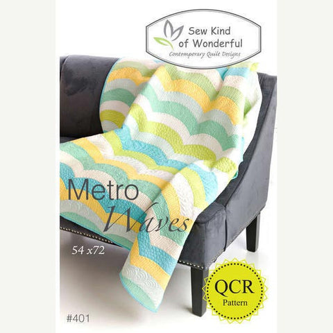Metro Waves Quilt Pattern by Sew Kind of Wonderful | HoneyBeGood
