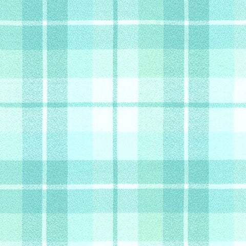"Plaid - Flannel 44"" - Aqua"