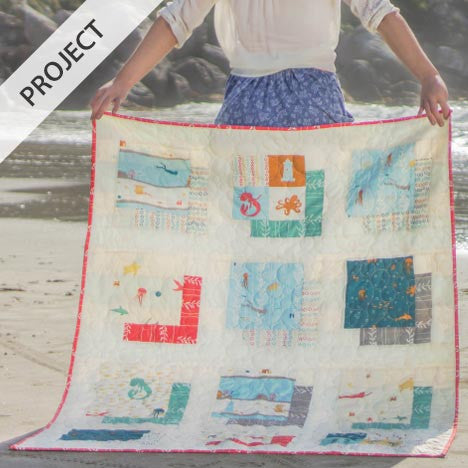 Sea Squared Quilt - Free Pattern