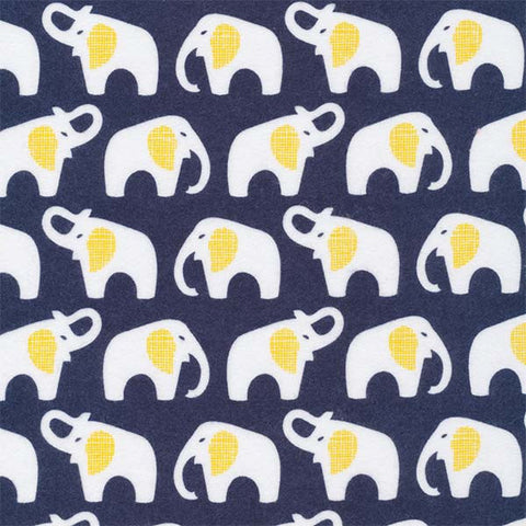 Cloud9 Flannel - Elephants | Navy