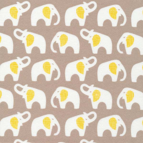 Cloud9 Flannel - Elephants | Gray