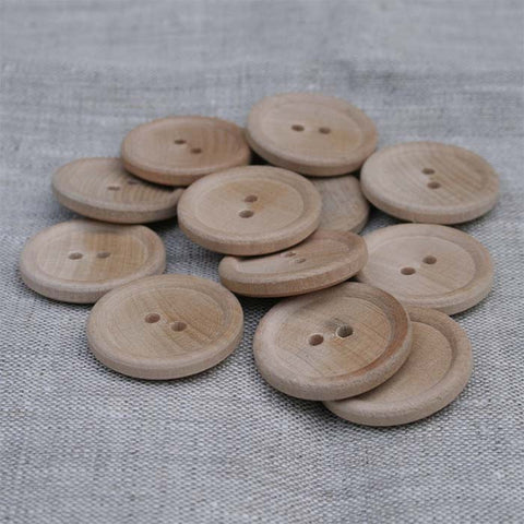 Classic English Rim Wood Button Unfinished | HoneyBeGood