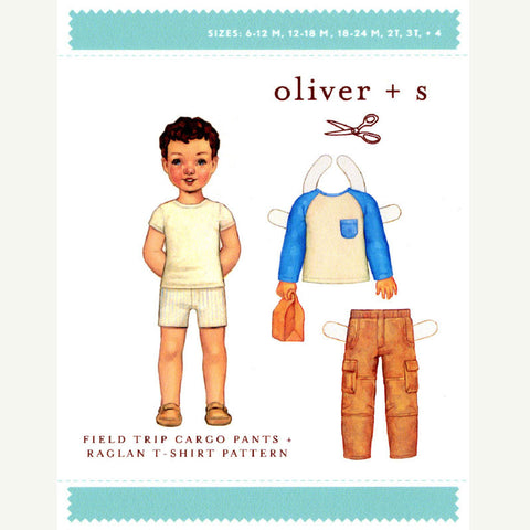 Field Trip Carbo Pants and Raglan T-Shirt Pattern from Oliver + S | HoneyBeGood