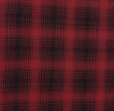 "Wool | 60""  Red/Black Plaid"