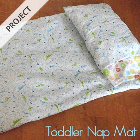Toddler Nap Mat and Pillow - Free Tutorial | HoneyBeGood