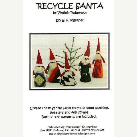 Recycle Santa Holiday Craft Pattern