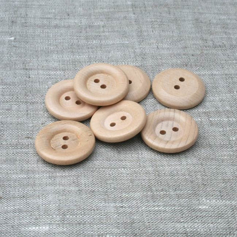 Rolled Rim / Rounded Back Button (662) Natural