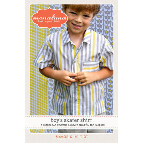 Boy's Skater Shirt Pattern by Monaluna | HoneyBeGood