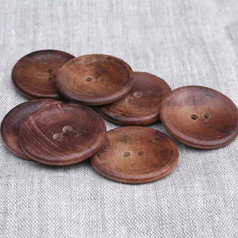 Slight Cup Front Button Walnut - 1-3/8