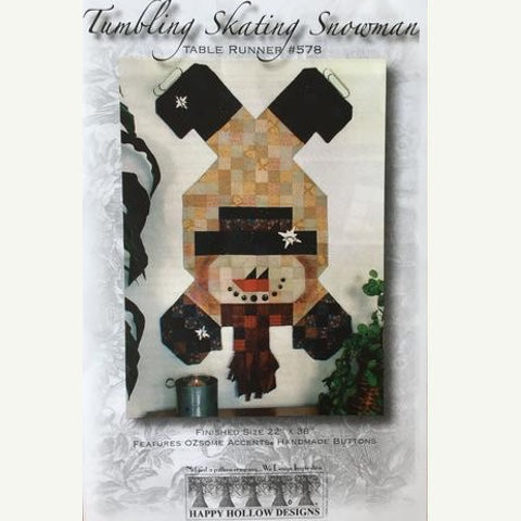 Tumbling Skating Snowman Table Runner Pattern