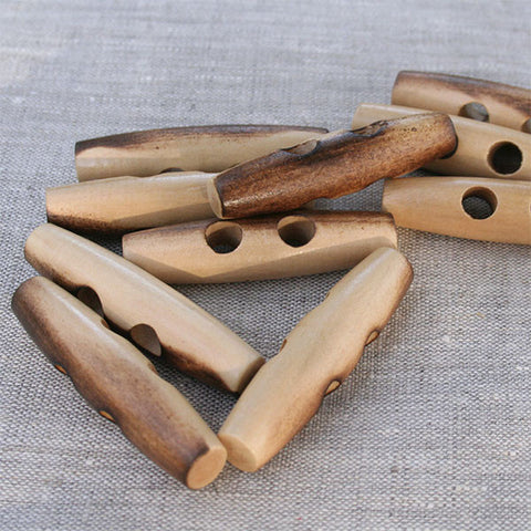 Cigar Shape Wooden Toggle | HoneyBeGood