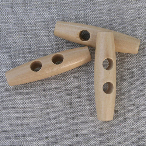 Cigar Shape Wood Toggle in Natural Finish | HoneyBeGood