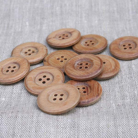 Wide Rounded Rim Wood Button | HoneyBeGood