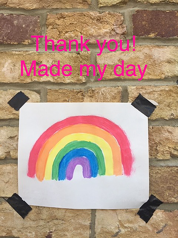 You gave me a rainbow!