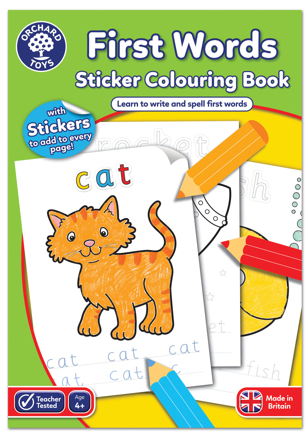 First Words Sticker Colouring Book