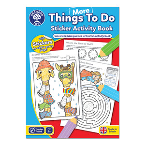 More Things to do Sticker Book Activity