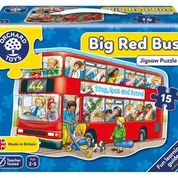Load image into Gallery viewer, Big Red Bus Puzzle
