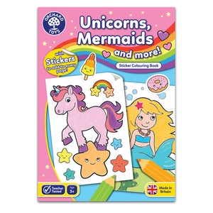 Unicorns Mermaids and More Sticker Colouring Book