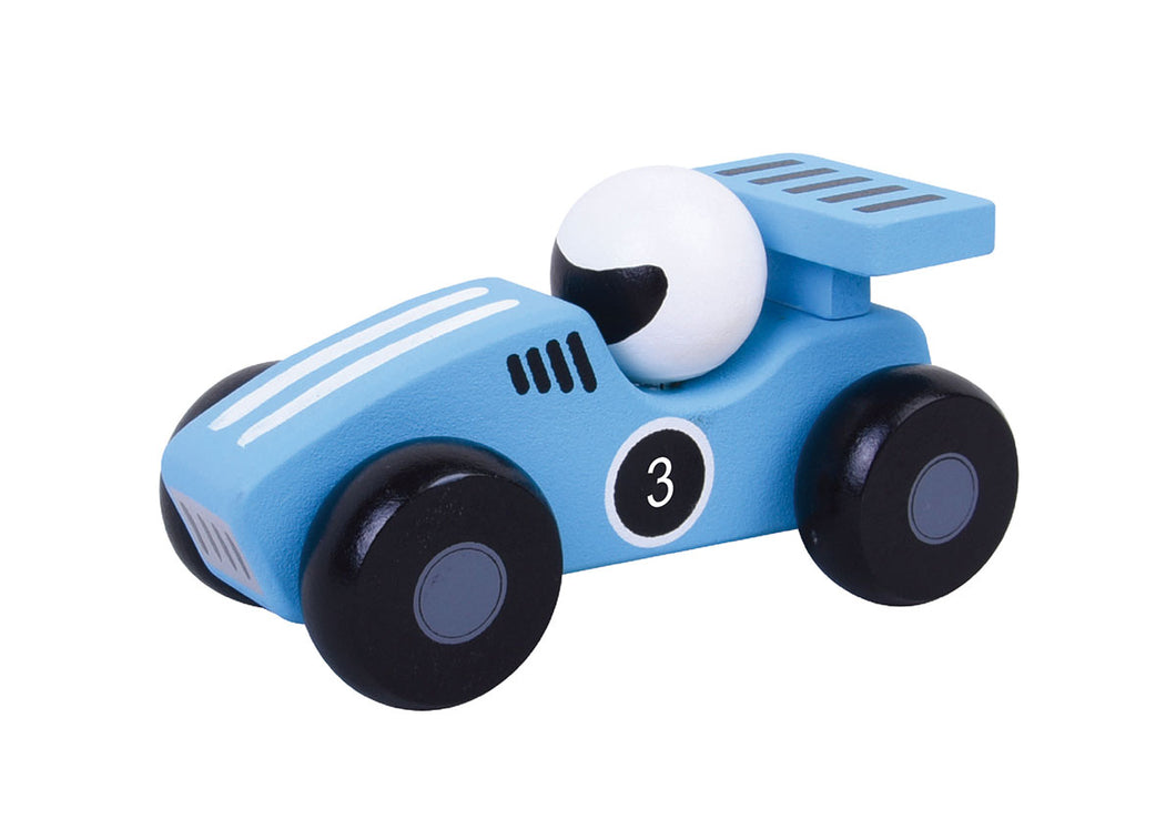 Blue Racing Car