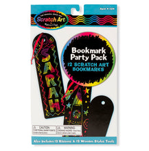 Load image into Gallery viewer, Scratch Art Bookmark Party Pack
