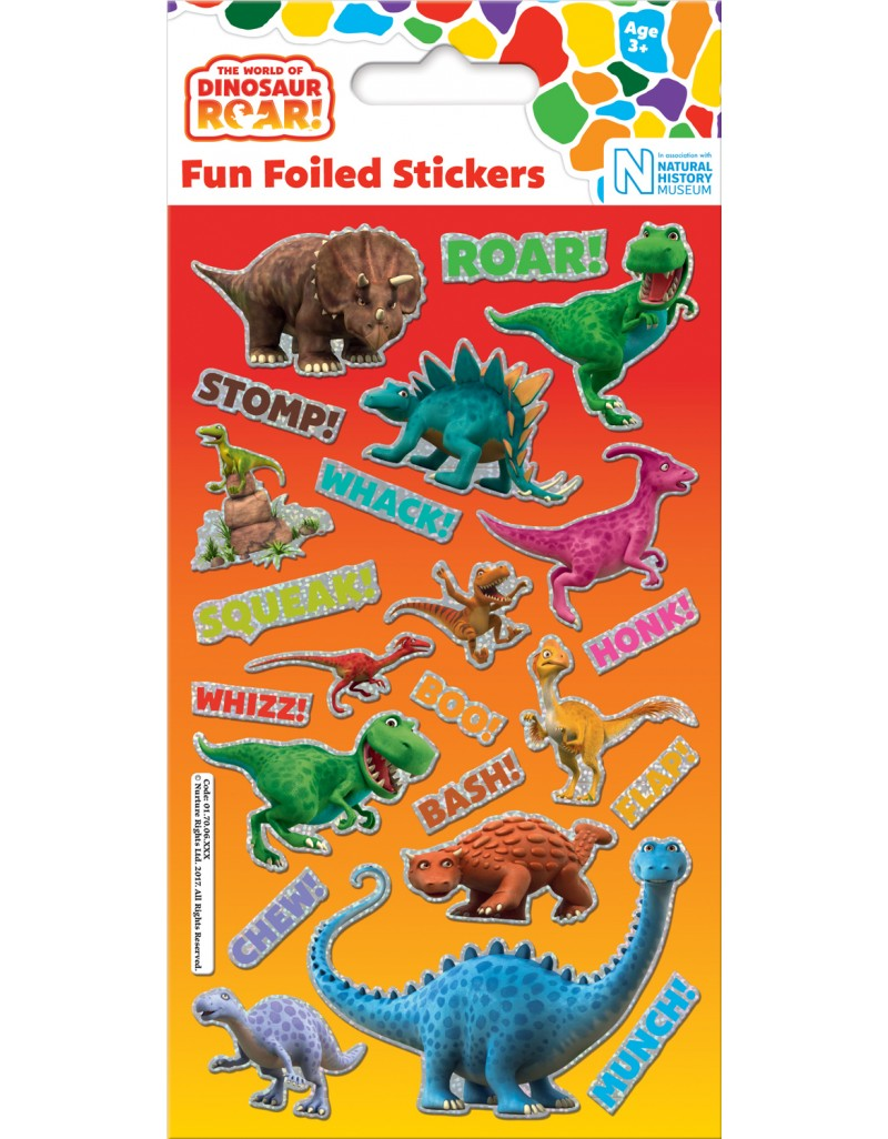 Foil Dinosaur Roar Stickers