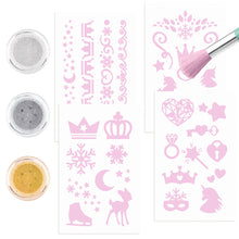Load image into Gallery viewer, Fantasy Model Glitter Tattoo Set