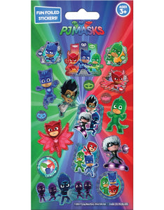 Foil P J Masks Stickers