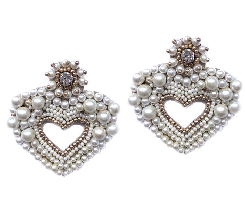 Hearty Pearl Earrings