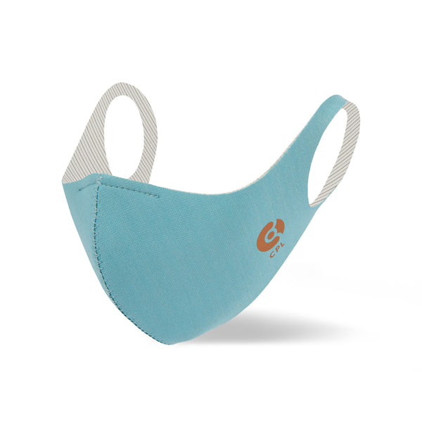 Powder Blue Antibacterial Copper Face Mask - Copperline Australia