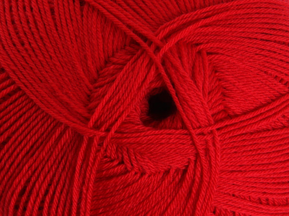 Ashford Mackenzie 4ply Merino 100gm - Traditional Red