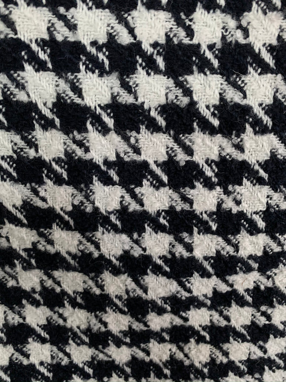 Houndstooth - Wool Coating