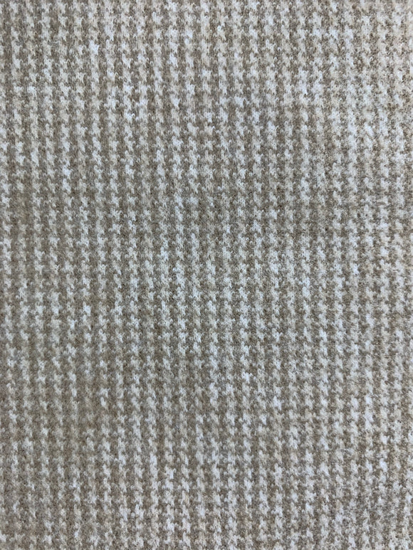 Beige Check - Wool/Acrylic Blend