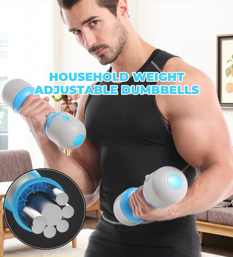 The ends of the dumbbell can be opened then the weight bars can be added or removed upon your need. This allows you to efficiently use one set of dumbbells for many exercises instead of buying multiple sets of different weights.