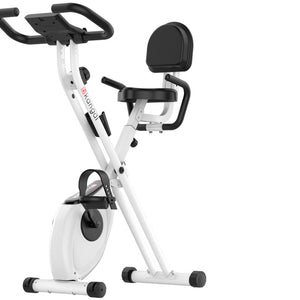 Home Exerpeutic Folding Magnetic Upright Exercise Bike | CredVita