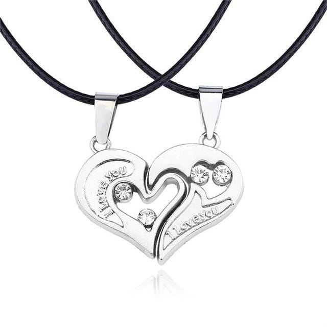 Two Half Heart Necklaces For Couples | Couple Matching