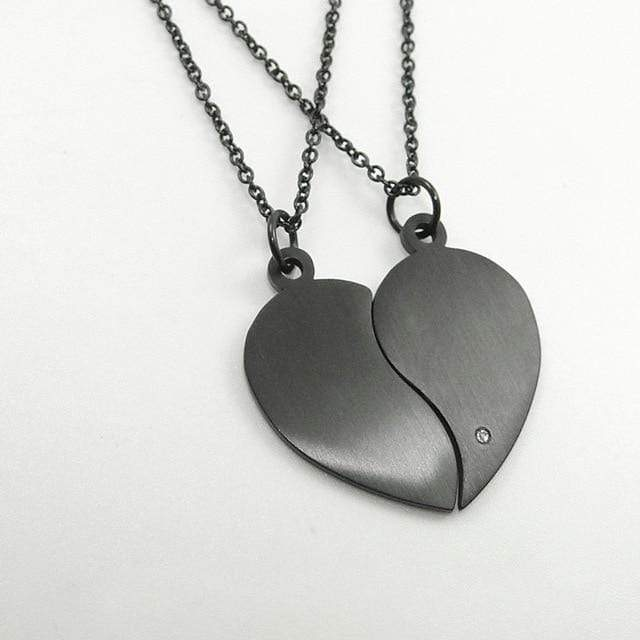 Heart Pendant Chain For Couples | Couple Matching